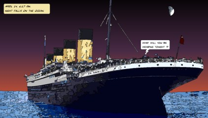 Titanic night -- Medium 90x50 219€ // Large 140x80 429€
