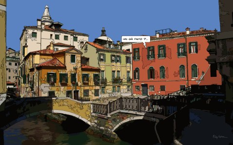 Venise Piazza -- Medium 100x60 239€ // Large 160x100 479€