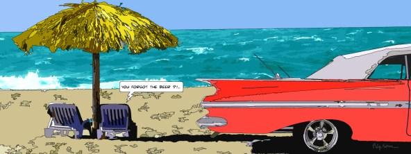 Impala beach RED -- Medium 100x40 199€ // Large 160x60 399€