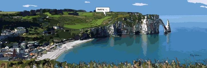 Etretat Birdie -- Medium 120x40 259€ // Large 180x60 429€