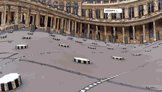 Palais Royal Ooops -- Medium 90x50 219€ // Large 140x80 429€
