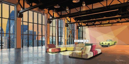 Loft London -- Medium 100x50 229€ // Large 140x80 429€ // XLarge 180x90 579€