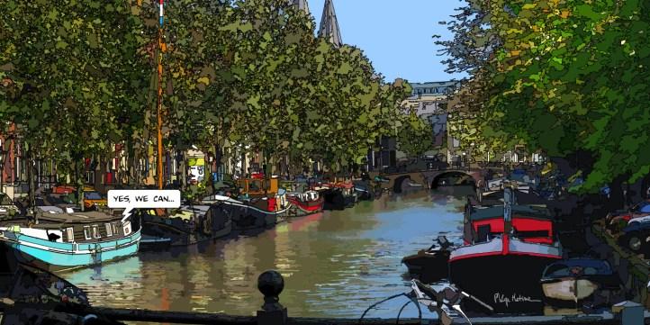 Amsterdam Péniches-- Medium 100x50 229€ // Large 140x70 399€ // XLarge 180x90 479€
