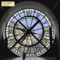 Horloge Orsay -- Medium 80x80 239€ // Large 100x100 299€