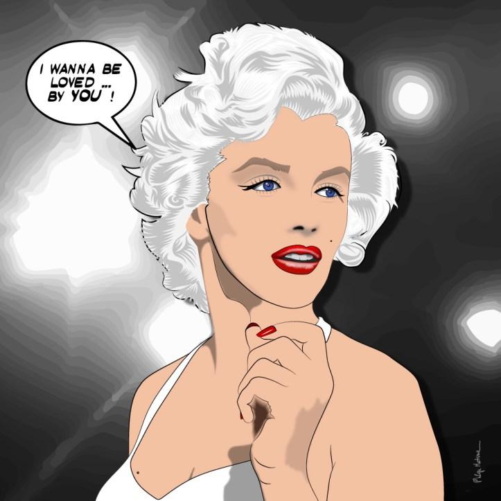 Marilyn -- Medium 80x80 239€ // Large 100x100 299€