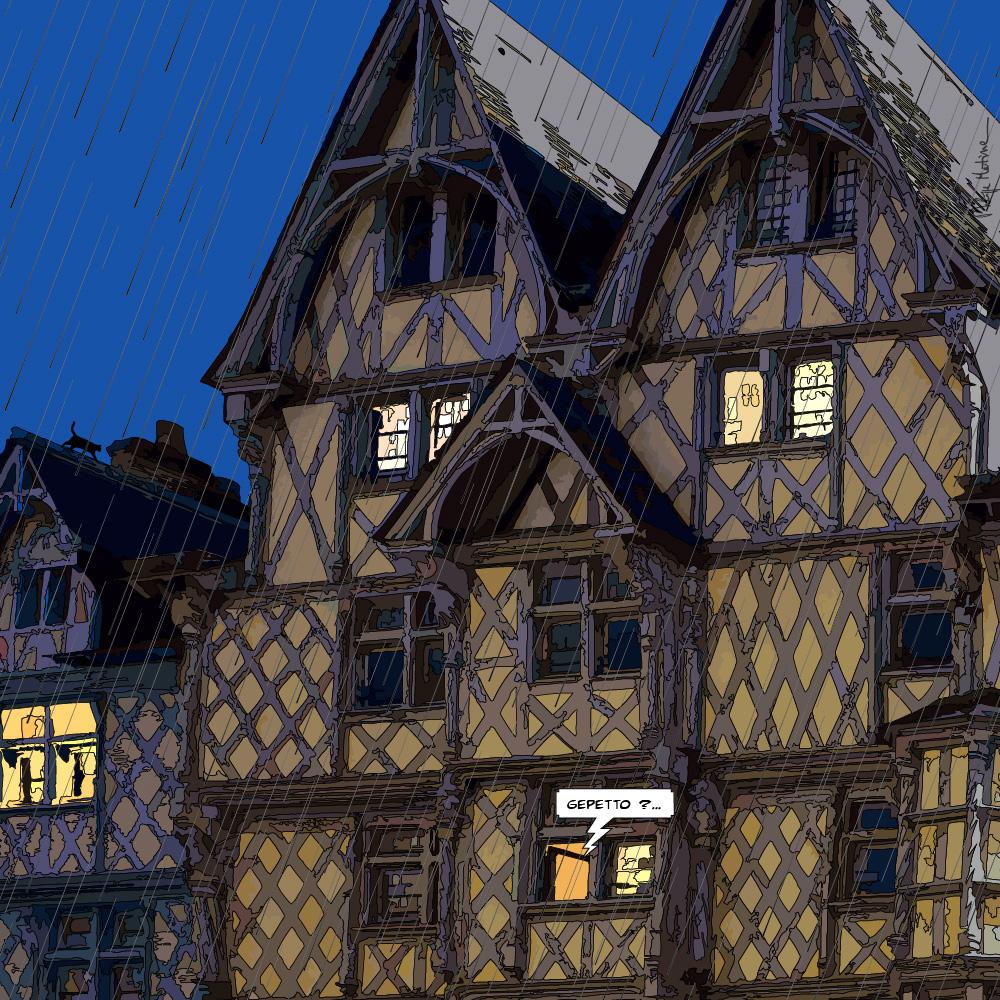 Angers // maison Adam nuit -- Medium 80x80 239€ // Large 100x100 299€ // XLarge120x120 449€
