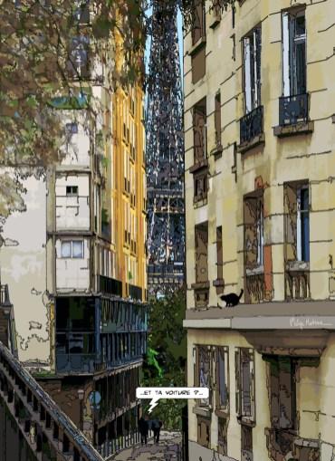"""Rue Berton // """"et ta voiture ?"""" -- Medium 80x110 329€ // Large 110x150 479€"""