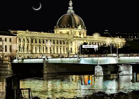 Lyon // Hôtel Dieu nuit -- Medium 100x70 259€ // Large 140x100 459€