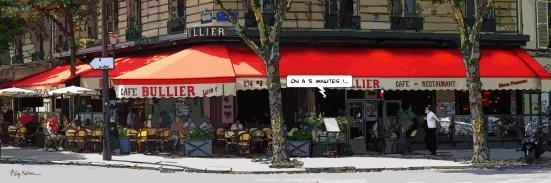 "Paris // Bullier ""5 minutes"" -- Medium 120x40 259€ // Large 180x60 429€ // XLarge 210x70 539€"