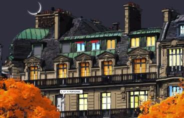 Paris // Haussmann nuit -- Medium 100x70 259€ // Large 140x90 449€