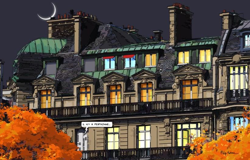 Paris // Haussmann nuit -- Medium 100x70 259€ // Large 140x90 429€