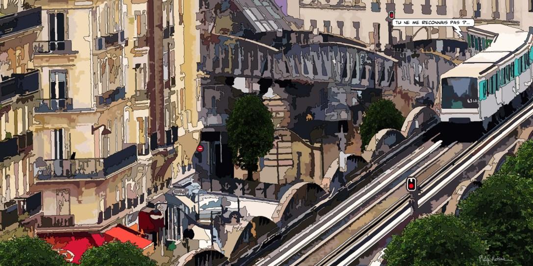 Paris // métro Dupleix -- Medium 100x50 229€ // Large 160x80 479€