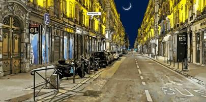 Lyon // golden street -- Medium 100x50 229€ // Large 160x80 459€