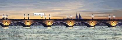 Bordeaux // Pont de Pierre -- Medium 120x40 259€ // Large 180x60 429€ // XLarge 210x70 539€