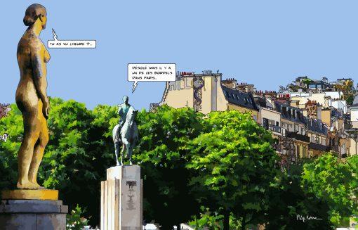 Paris // Statues Trocadéro -- Medium 90x60 229€ // Large 140x90 449€