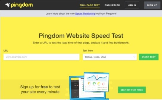 Screenshot des Page Speed Tests von Pingdom