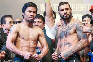 Pacquiao Vs Mathysse weight In