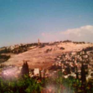Holy Land hill top in Jerusalem