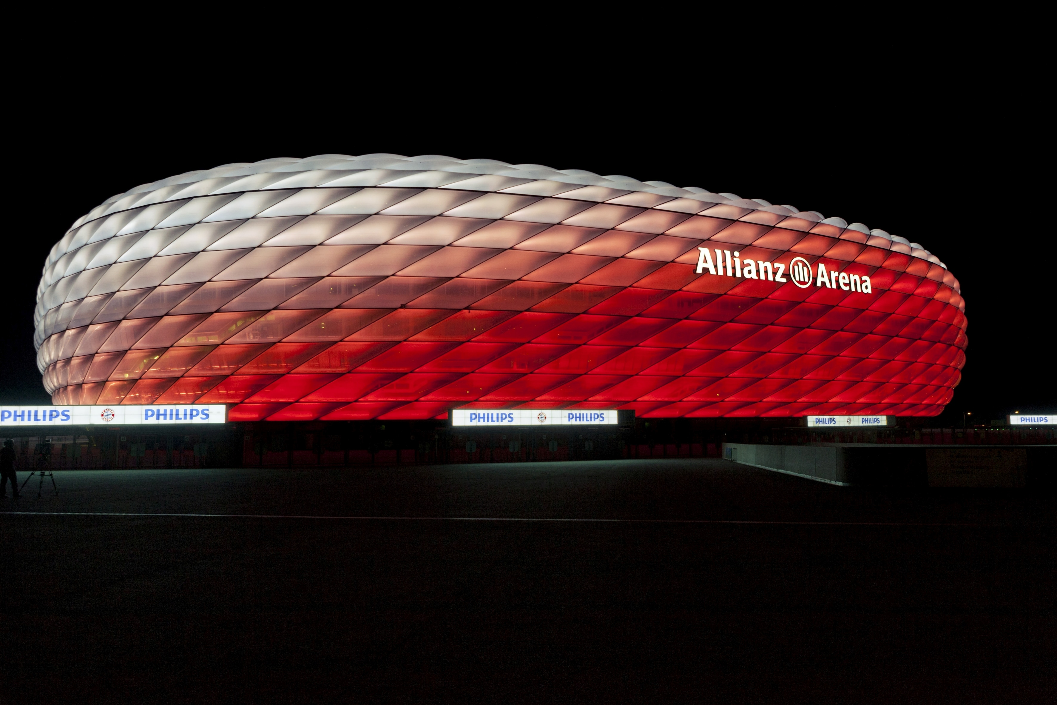 3d Designs Wallpaper Hd Connected Philips Led Lighting For The Allianz Arena Fc