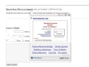 Love Bucket. Got to love that website.