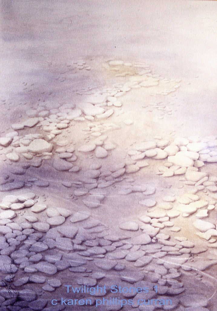 Twilight Stones1 watercolour 22x30