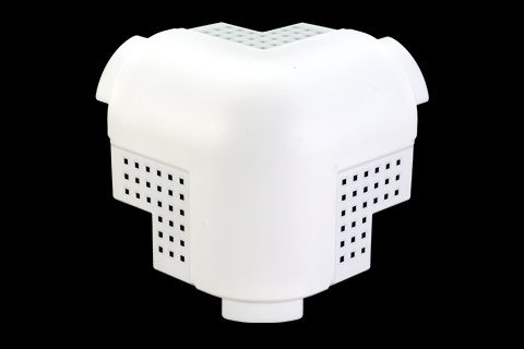 "gripstik vinyl drywall corner transition cap - 1-1/2"" bullnose rounded finish 3-way corner cap"