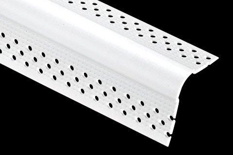 """vinyl drywall bullnose corner bead - 3/8"""" Bullnose (Mini)"""