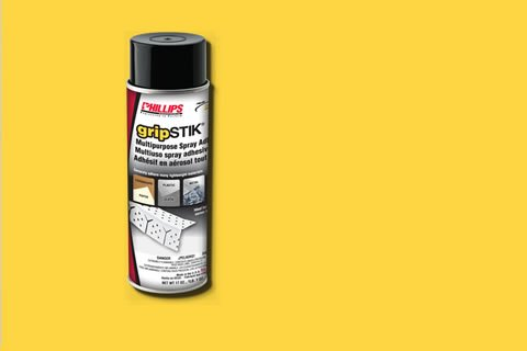 gripstik multipurpose spray adhesive by phillips manufacturing