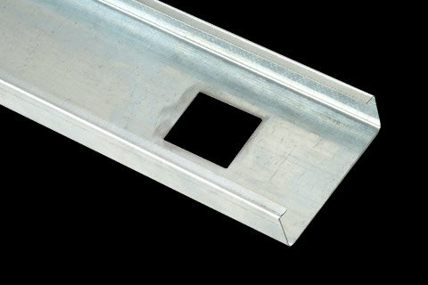 conventional metal studs for drywall and wall assemblies