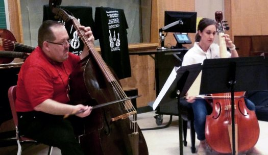 Phillip W. Serna & Jessica Powell Eig at the International Society of Bassists Convention 2019