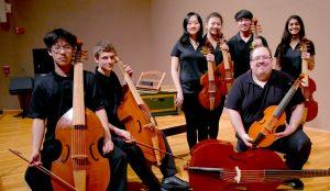 Phillip Serna directing Adlai E. Stevenson High School viol consorts
