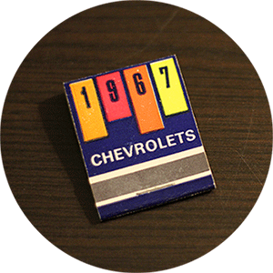 1967 Chevrolets Matchbook