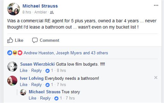 Strauss renting out bathroom (Custom)