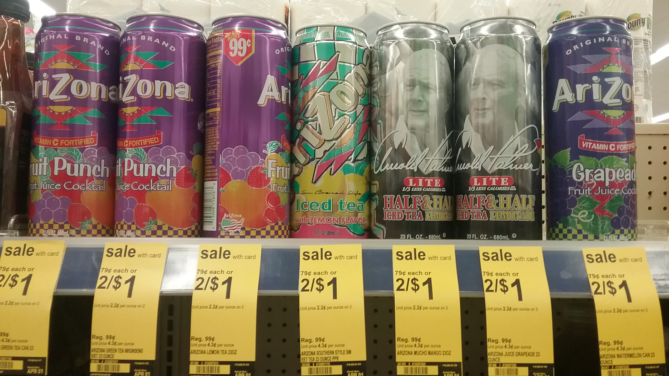 Arizona Iced Tea at Walgreens