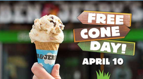 FREE Ice Cream Cone at Ben & Jerry's Today Only!