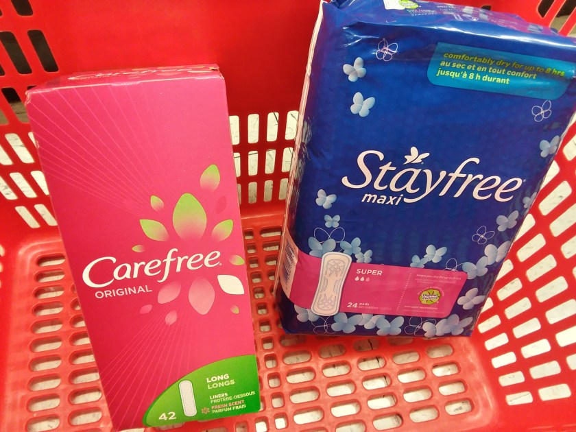 carefree or stayfree at shoprite