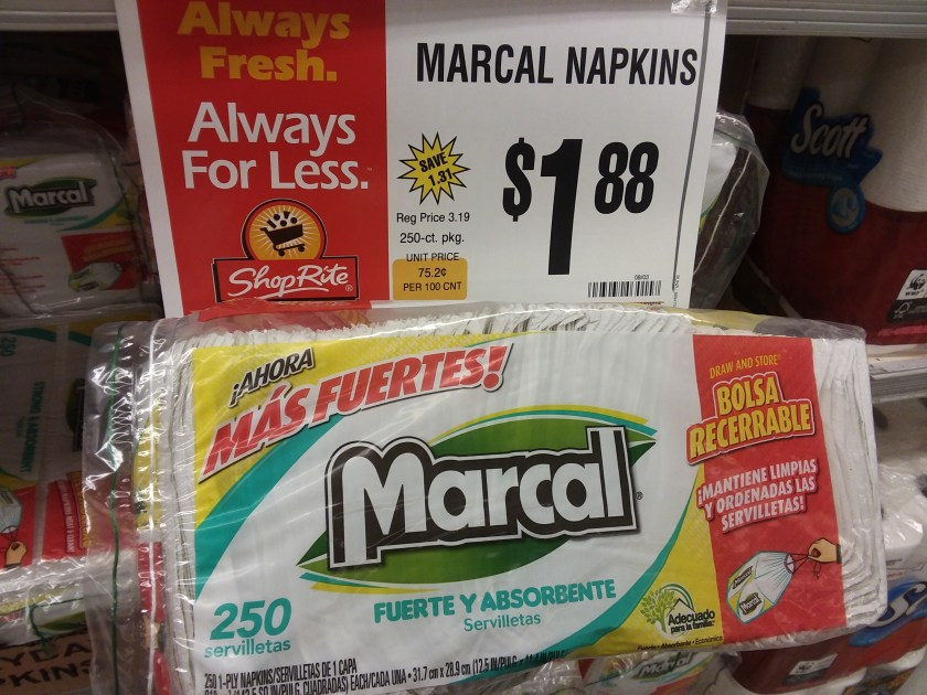 marcal napkins at shoprite - Philly Coupon Mom