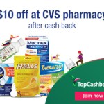 CVS $10 back at Topcashback - Philly Coupon Mom