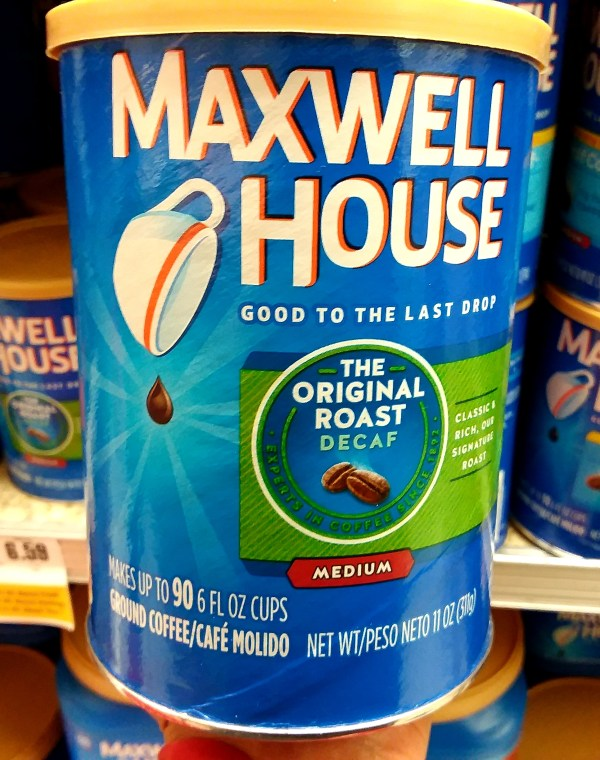 Maxwell House Coffee at Shoprite