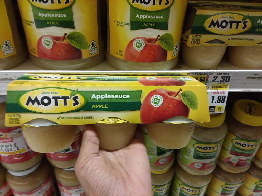 Motts Applesauce at Shoprite