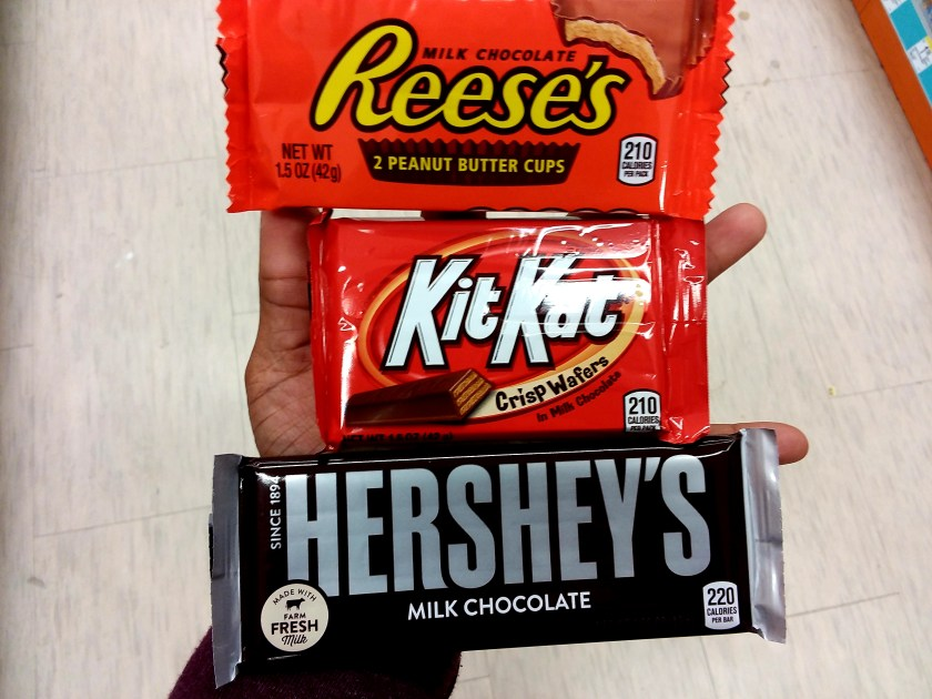 Hersheys Candy at Walgreens