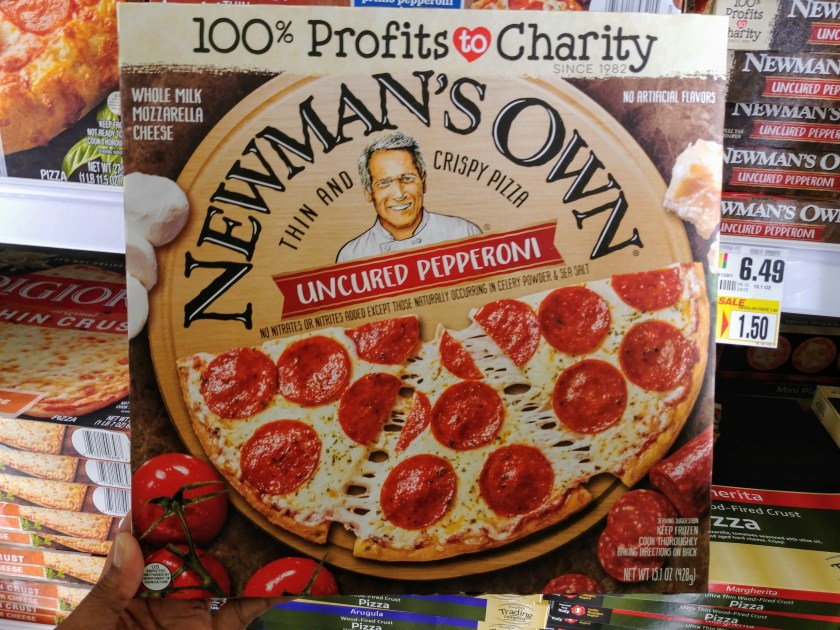 Newman's Own Pizza at Shoprite