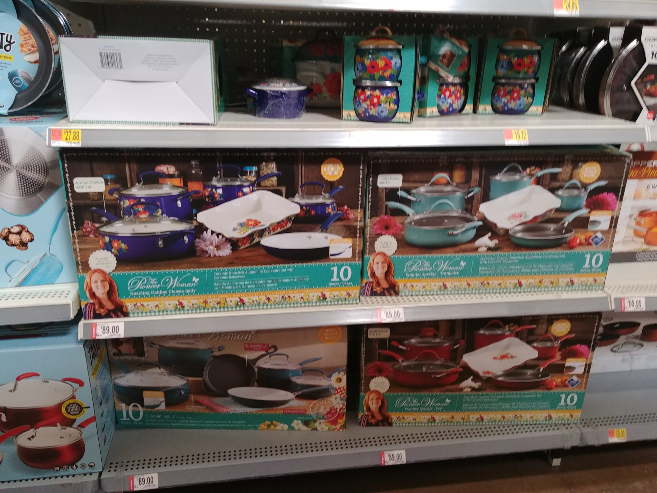 The Pioneer Woman 24-Piece Cookware Set at Walmart