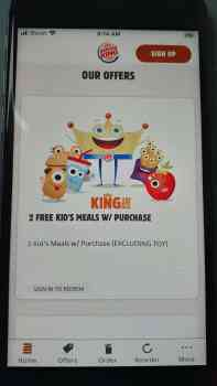 Burger King Kids Meals