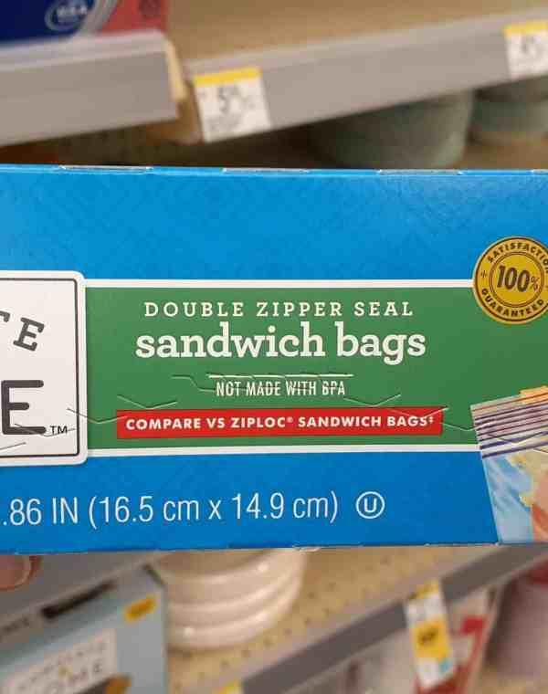 Complete sandwich bags at Walgreens