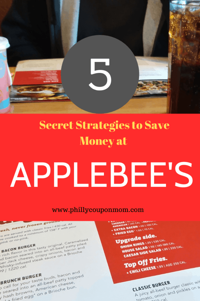 5 Secret Strategies to save money at applebees Today