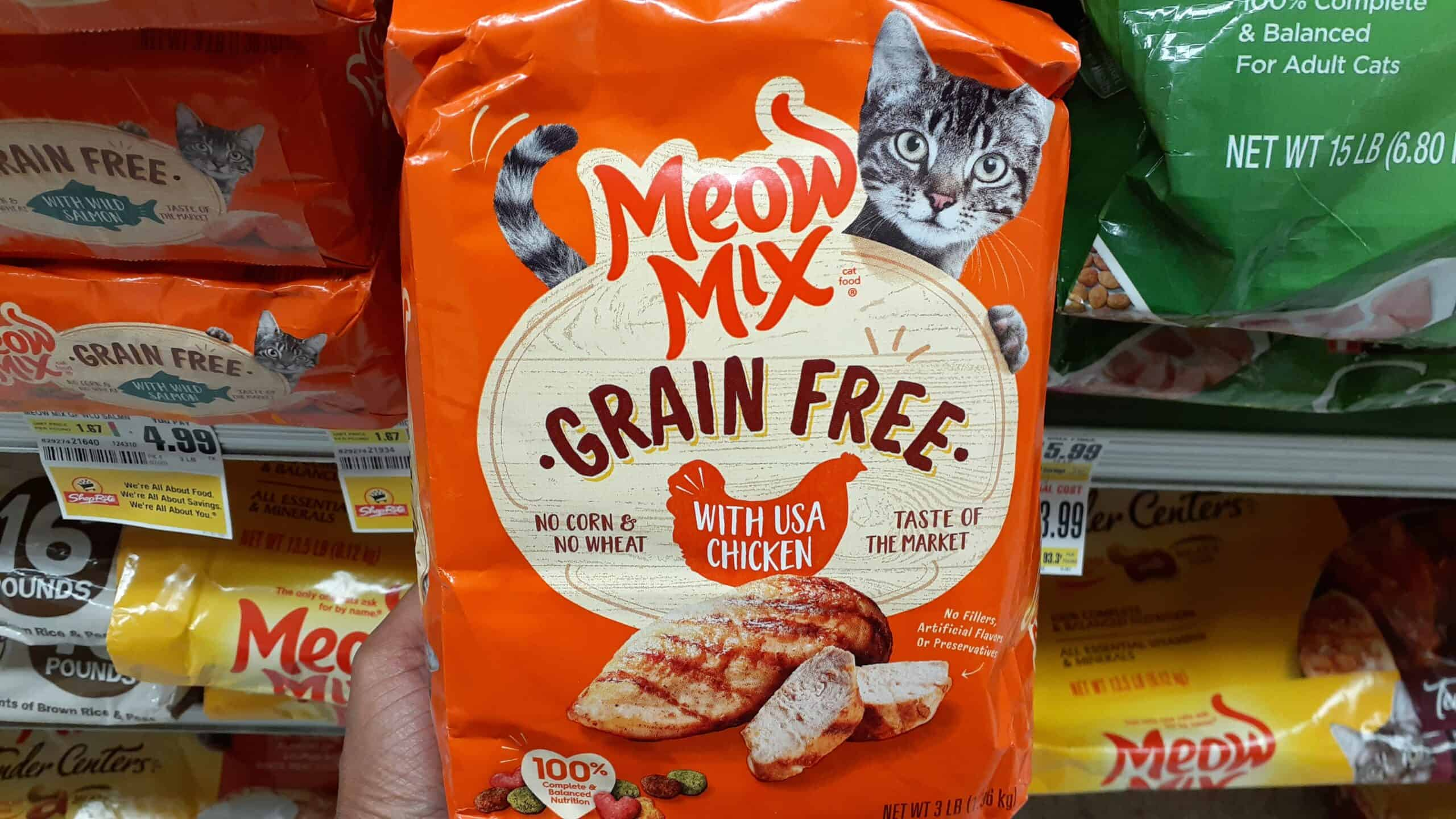 Meow Mix at Shoprite
