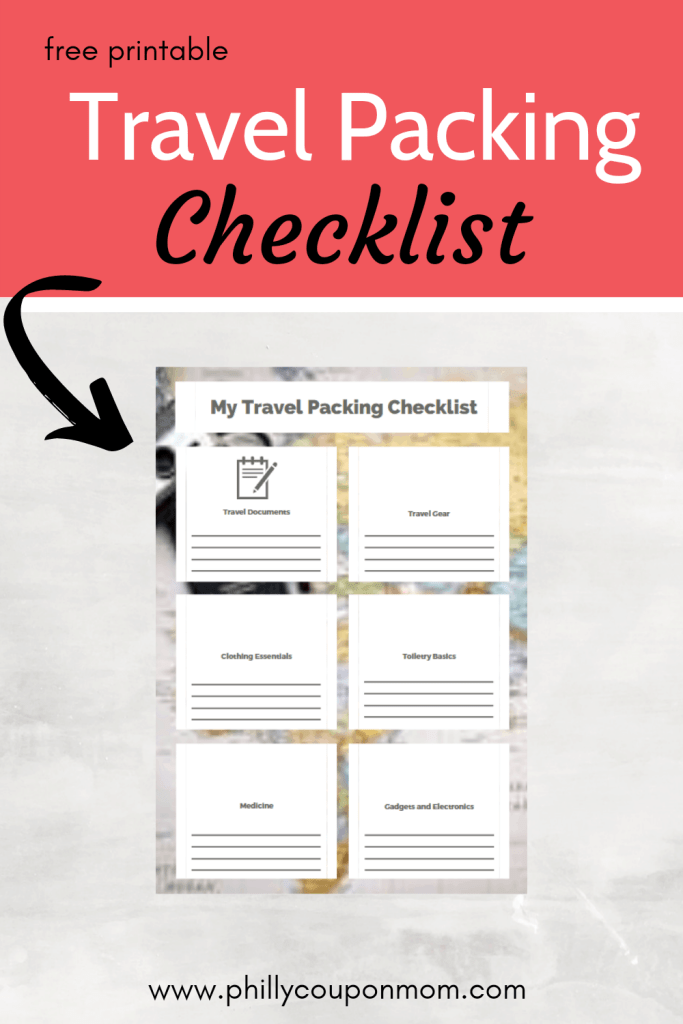 Travel packing list image