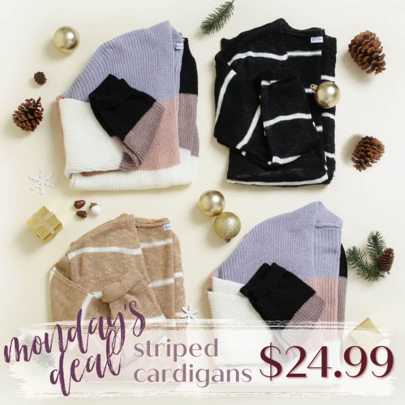 Striped Cardigans at cents of style