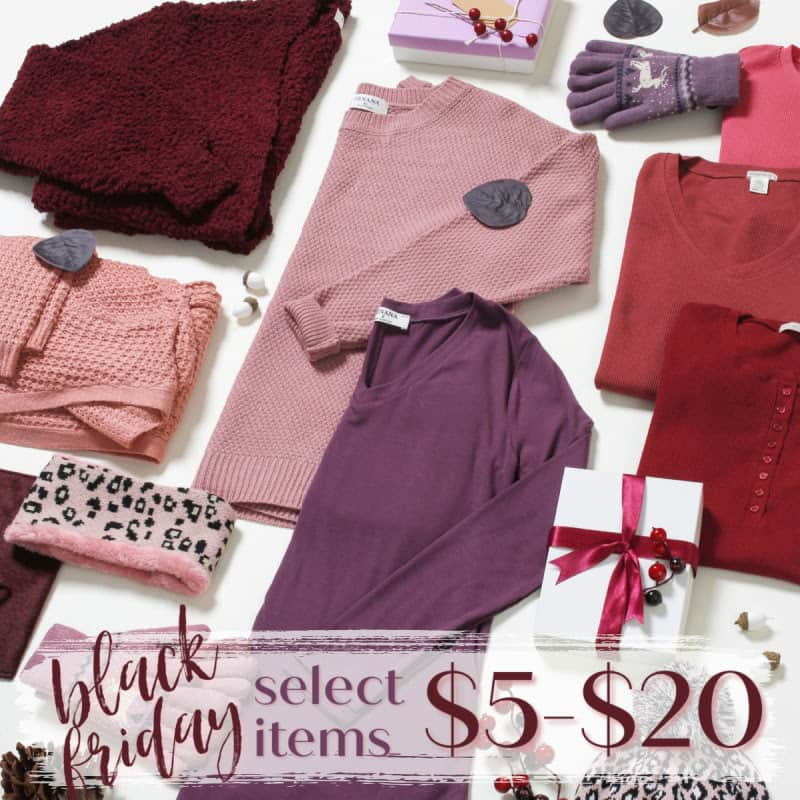 black friday select items at cents of style